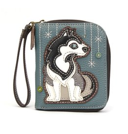 Chala Zip Around Wallet Husky