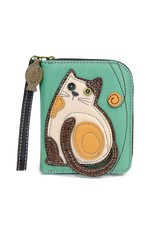 Chala Zip Around Wallet LaZzy Cat