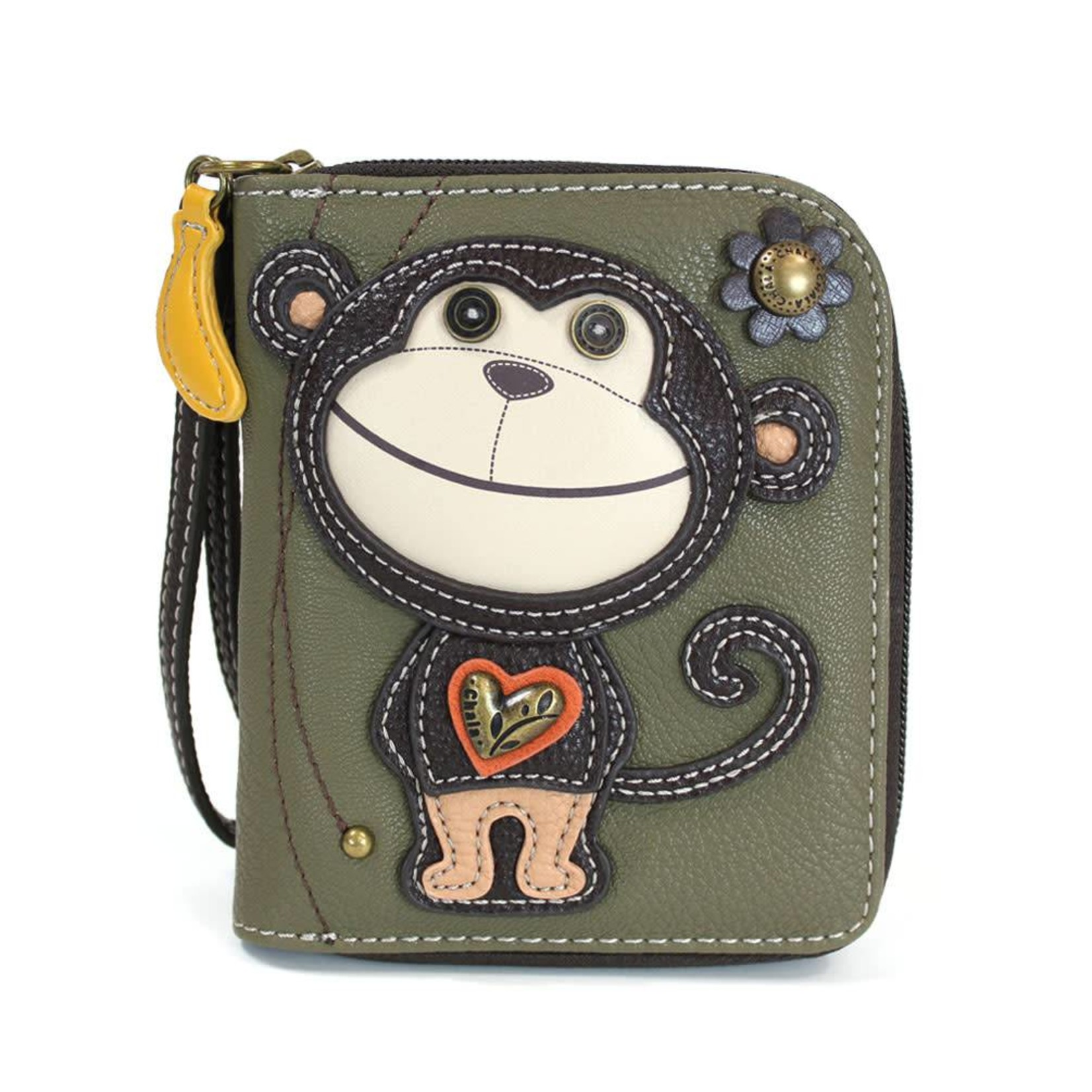 Chala Zip Around Wallet Smartie Monkey