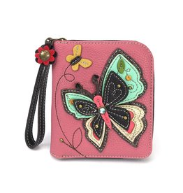 Chala Zip Around Wallet New Butterfly