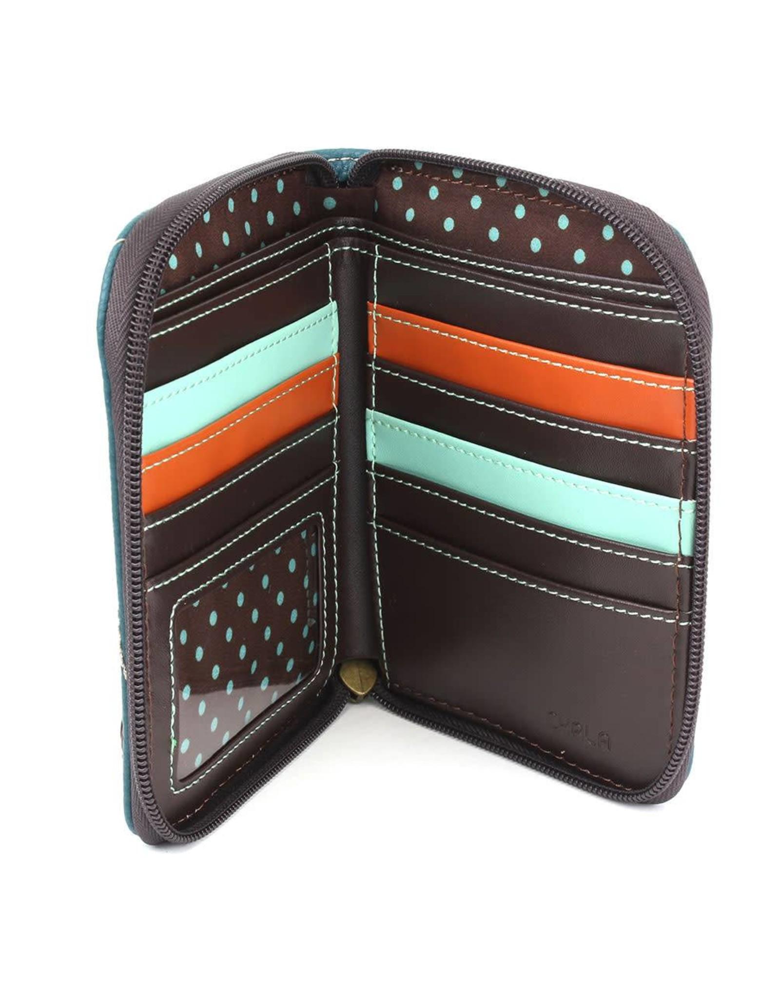 Womens Wallets & Wristlets - Small Zip Around Wallet In