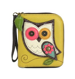 Chala Zip Around Wallet Owl II Mustard
