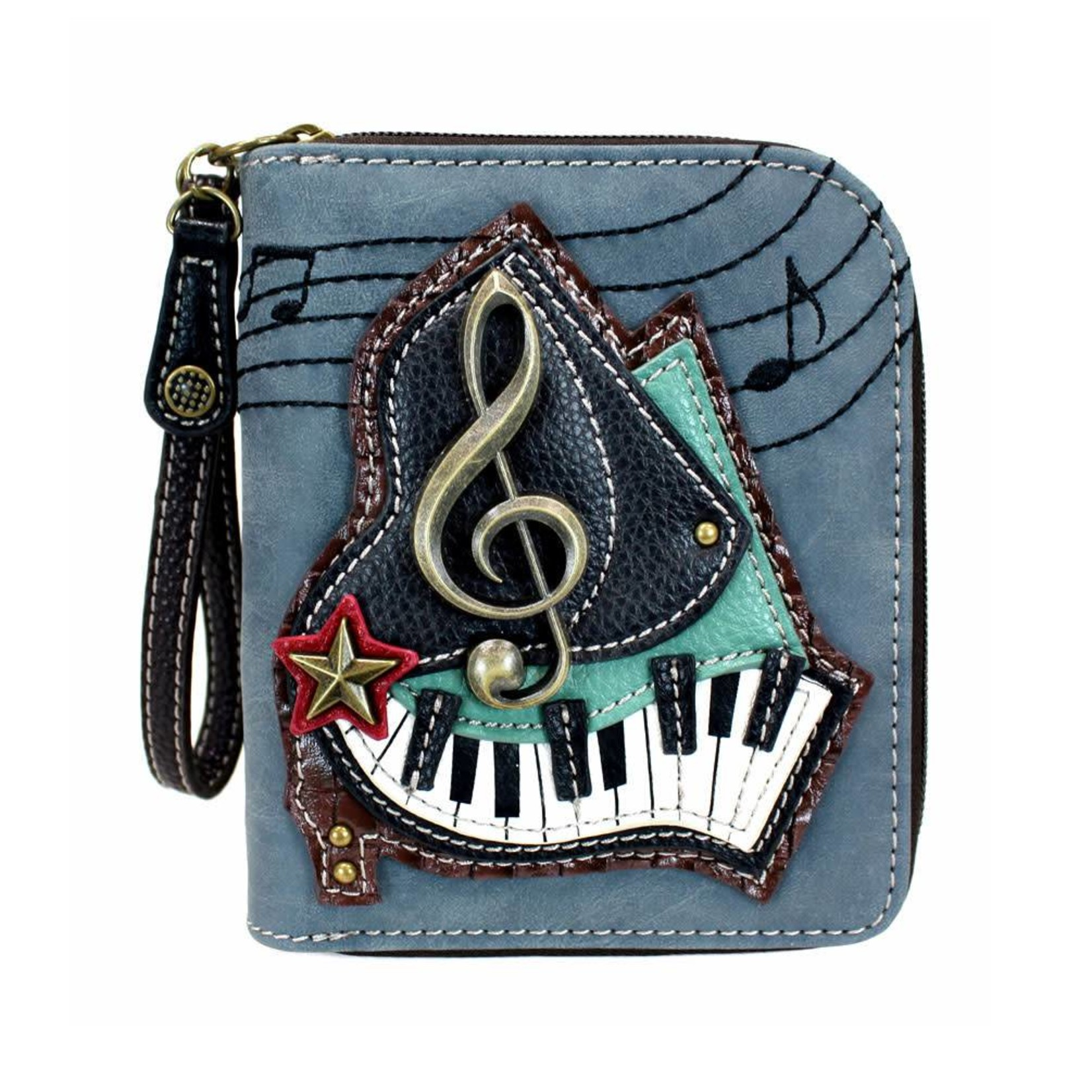 Chala Zip Around Wallet Piano