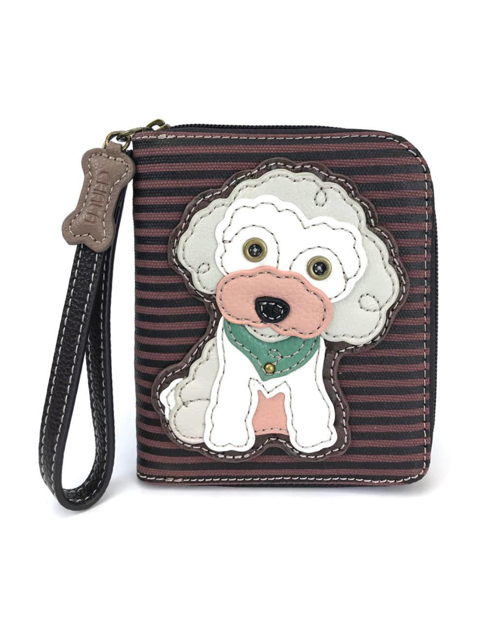 Chala Zip Around Wallet Poodle