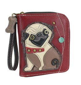 Chala Zip Around Wallet Pug