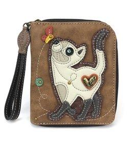 Chala Zip Around Wallet Slim Cat