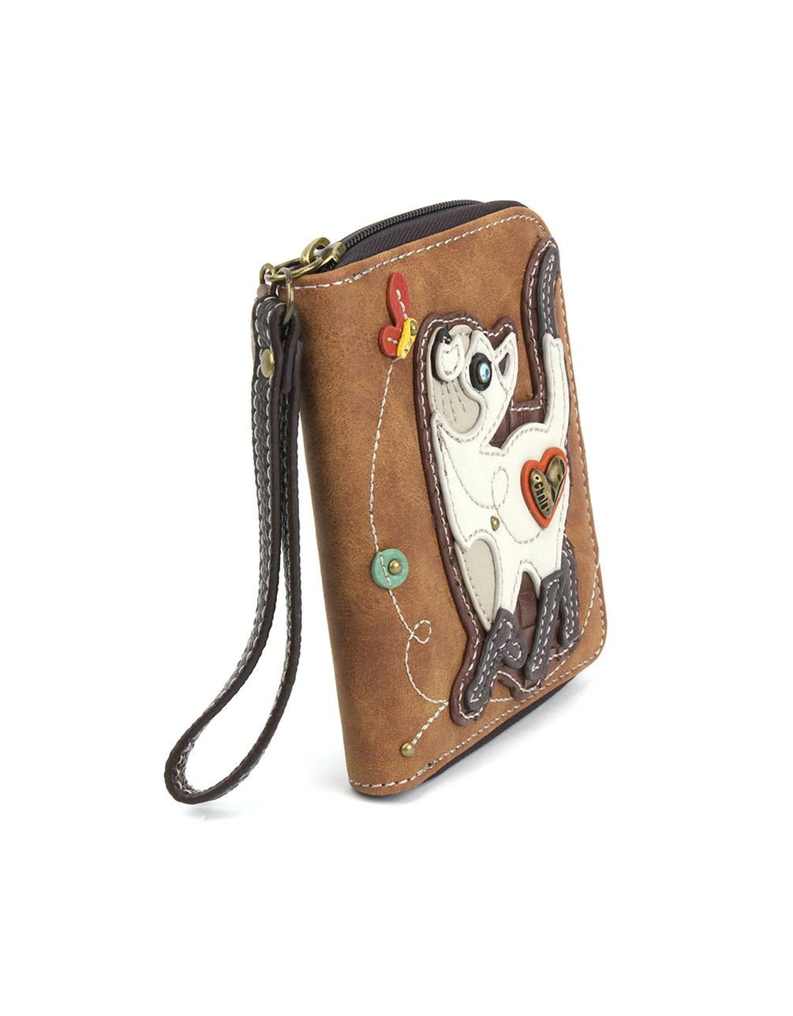 Chala Zip Around Wallet Slim Cat