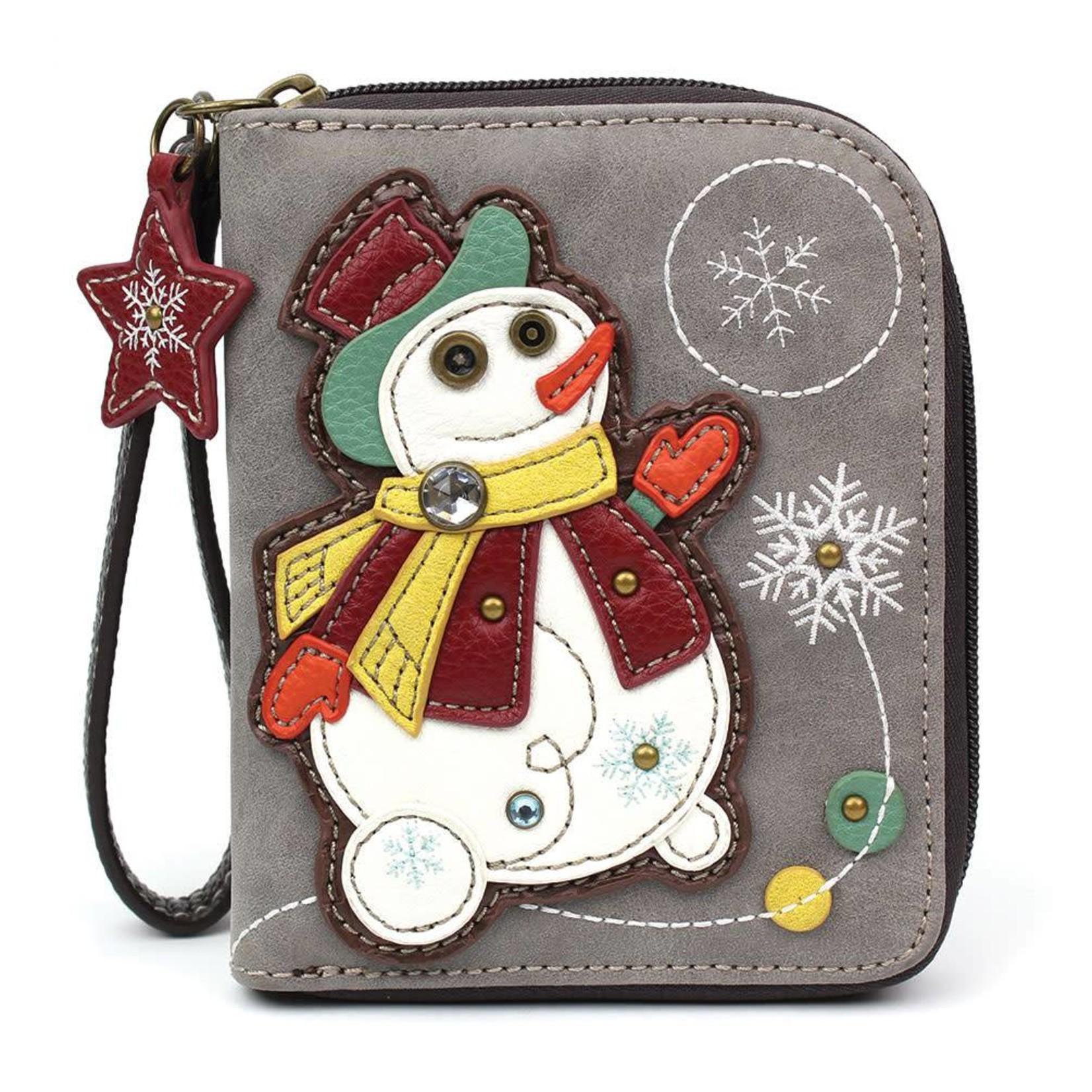 Chala Zip Around Wallet Snowman