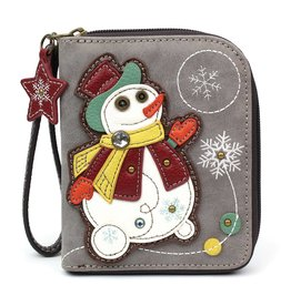 Chala Zip Around Wallet Snowman