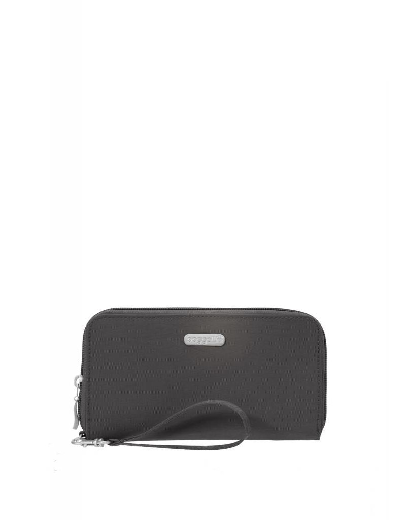 RFID Continental Wallet Charcoal