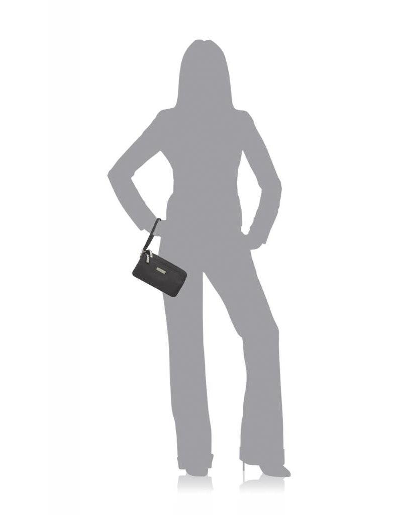 Baggallini RFID Double Zip Wristlet Charcoal