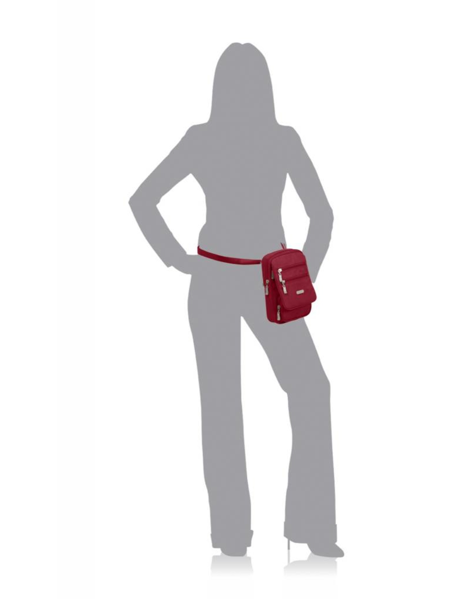 Baggallini RFID Journey Crossbody Bagg Apple