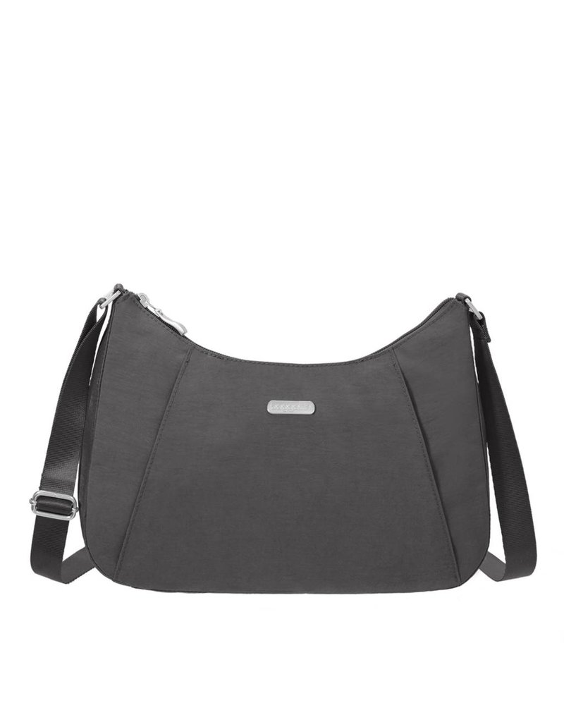 Slim Crossbody Hobo Charcoal
