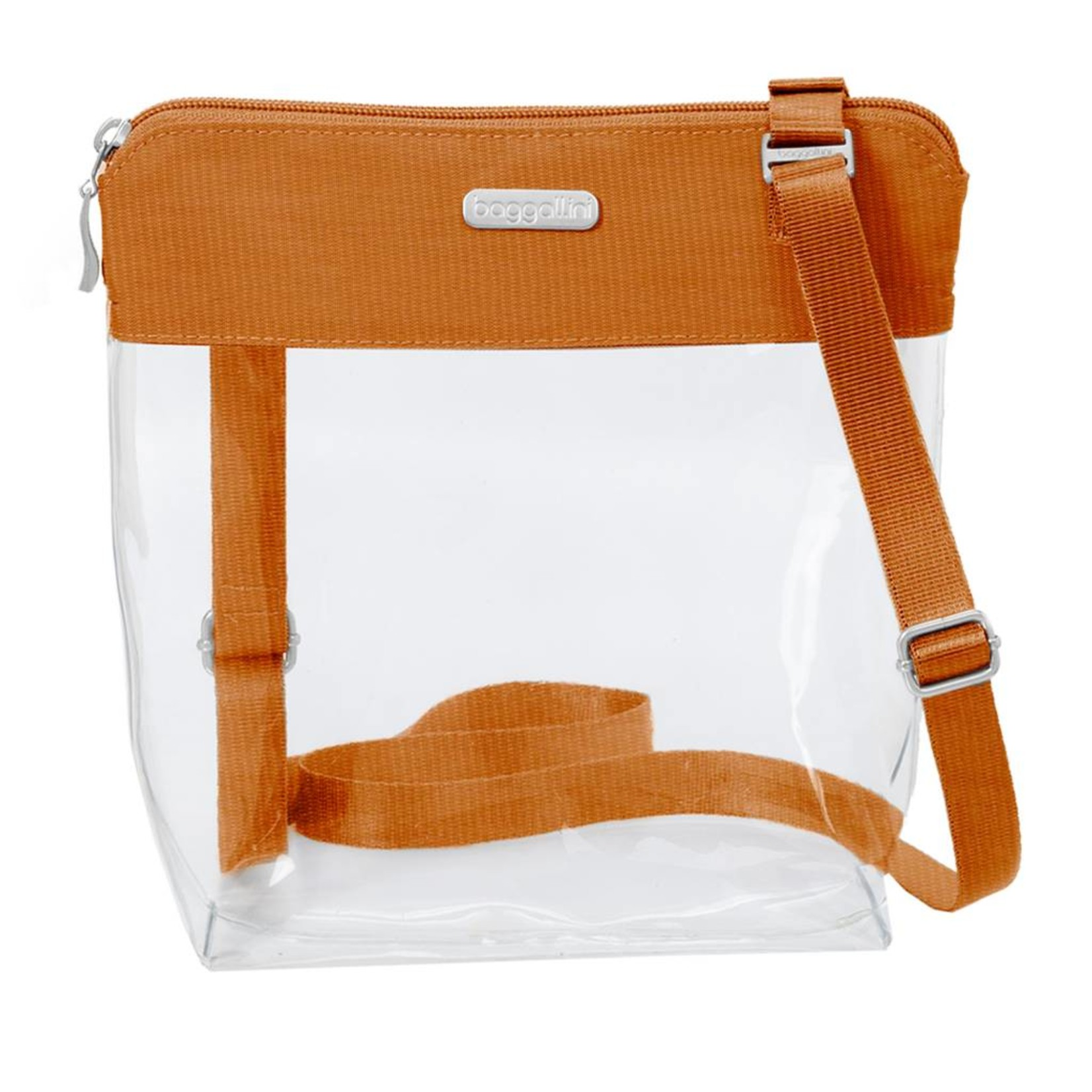 Baggallini Clear Event Compliant Pocket Crossbody - Orange