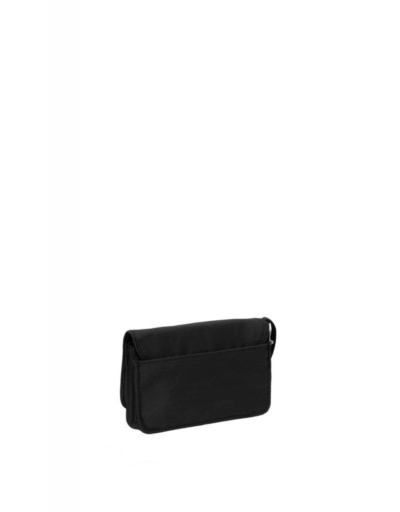 RFID Flap Wristlet Black