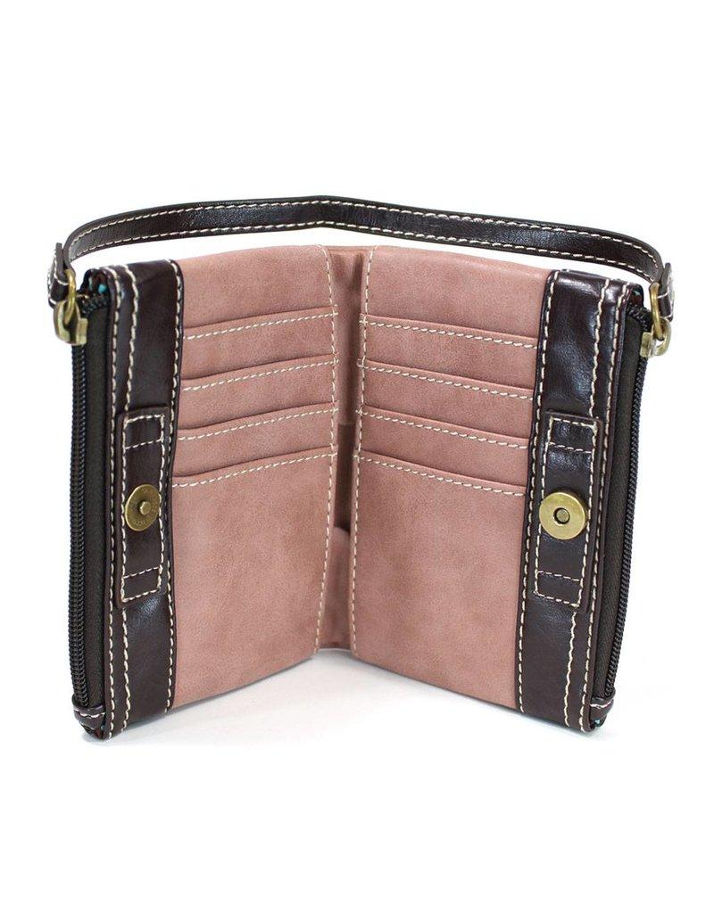 Chala Double Zip Wallet Indigo
