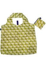 Rock Flower Paper Elephant Olive Blu Bag
