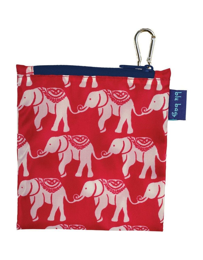 Rock Flower Paper Elephant Pink Blu Bag