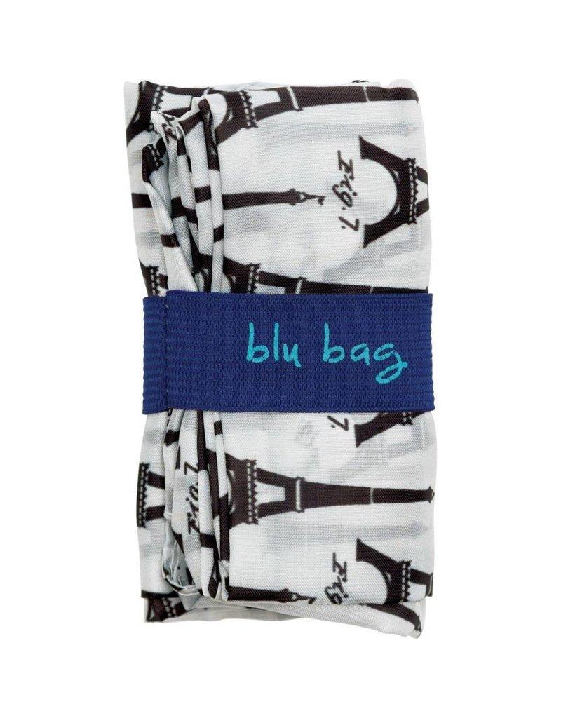 Rock Flower Paper Eiffel Tower Black Blu Bag