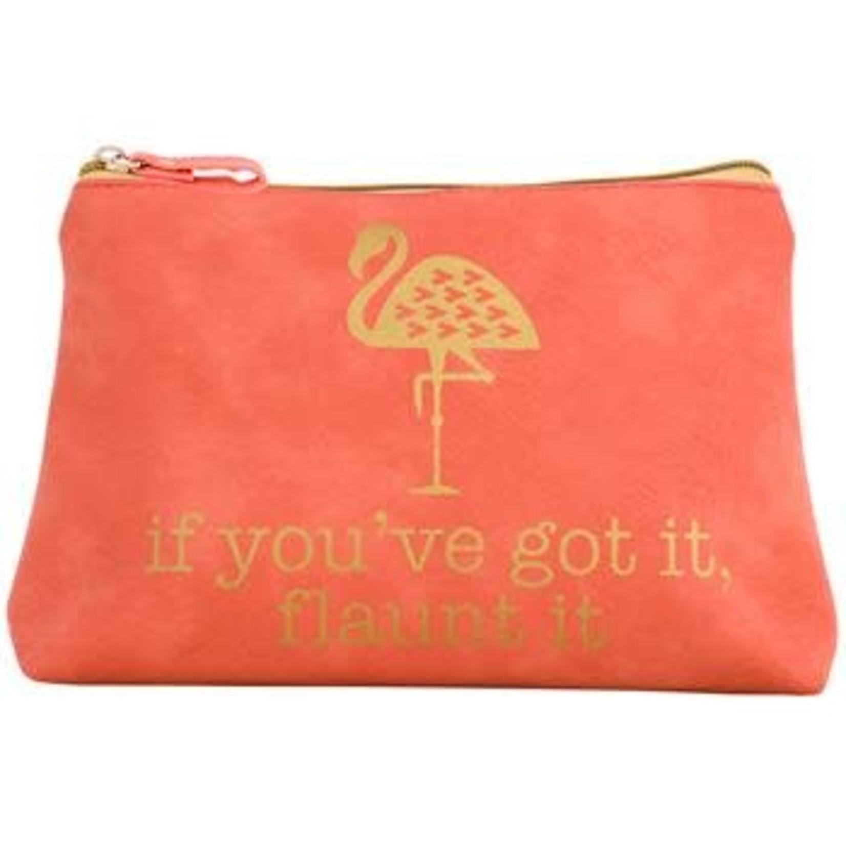 Gold Rush Cosmetic Bag Flamingo