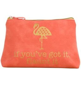 Gold Rush Cosmetic Bag Flamingo