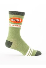 Blue Q Mens Crew Socks - Adult In Training