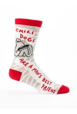 Blue Q Mens Crew Socks Chili Dogs