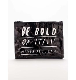 Zipper Pouch Bold Italic