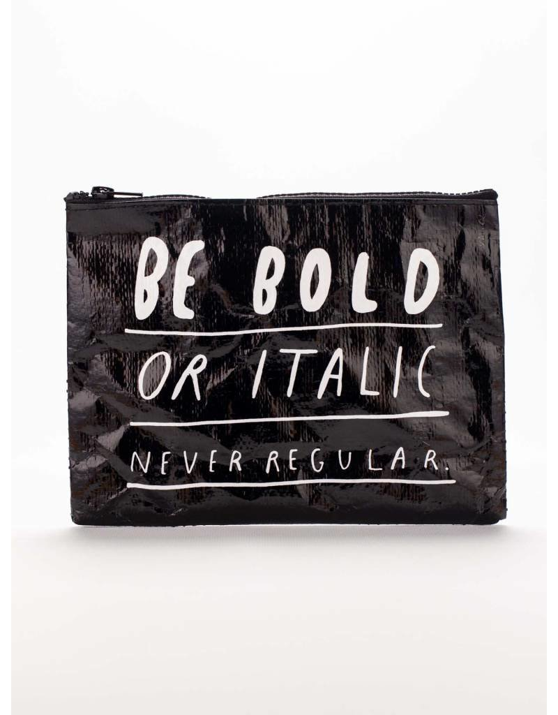 Blue Q Zipper Pouch Bold Italic