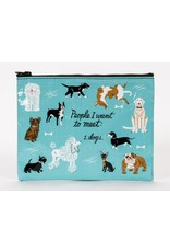 Blue Q Zipper Pouch People To Meet Dogs