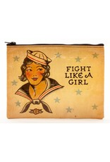 Blue Q Zipper Pouch - Fight Like A Girl