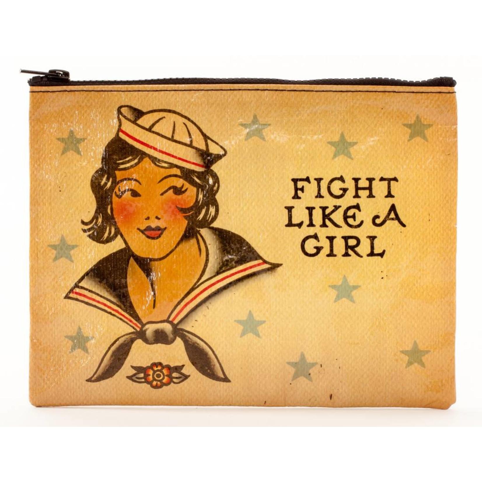Blue Q Zipper Pouch - Fight Like A Girl
