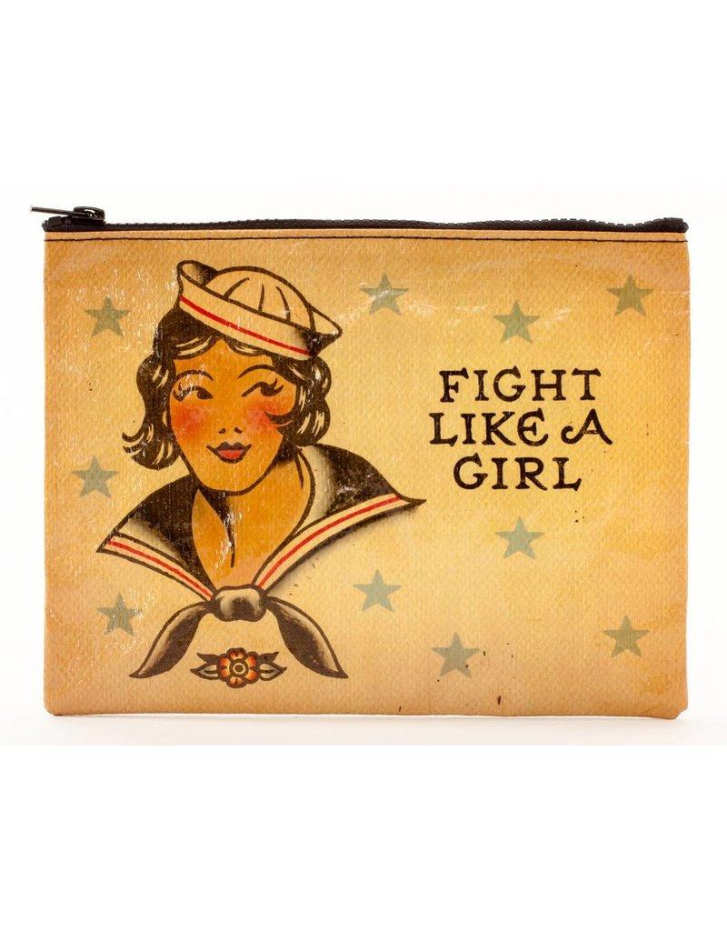 Blue Q Zipper Pouch Fight Like A Girl