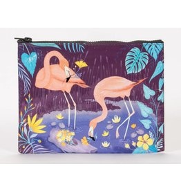 Blue Q Zipper Pouch Flamingo