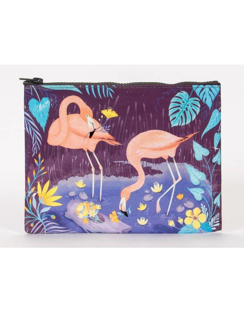 Blue Q Zipper Pouch Flamingo