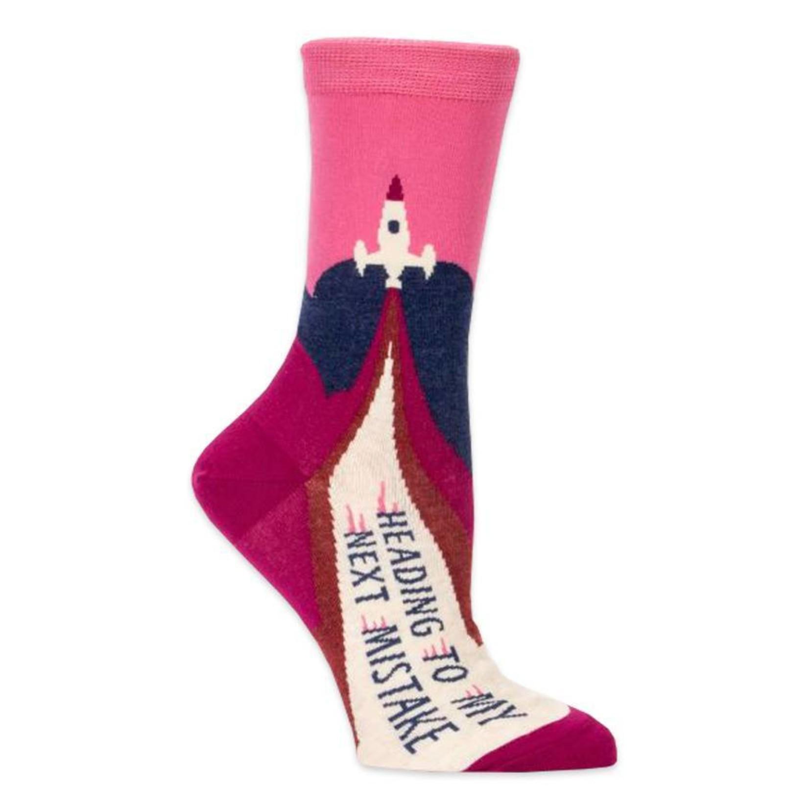 Blue Q Womens Crew Socks - Heading to My Next Mistake