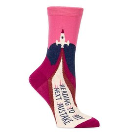 Blue Q Womens Crew Socks - Heading to My Next Mistake
