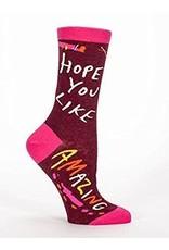 Blue Q Womens Crew Socks Hope You Like Amazing