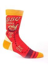 Blue Q Mens Crew Socks BBQ