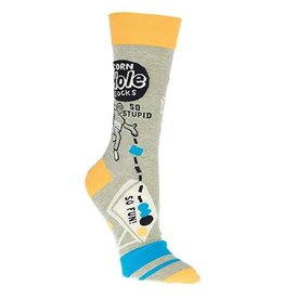 Blue Q Mens Crew Socks Cornhole