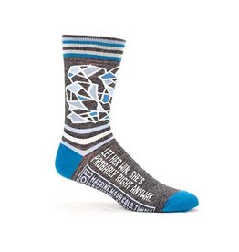 Blue Q Mens Crew Socks Let Her Win
