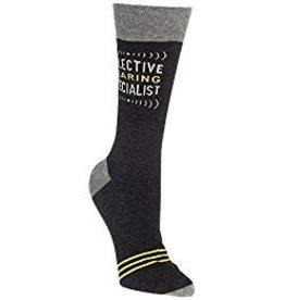 Mens Crew Socks Selective Hearing