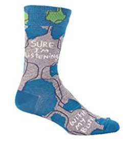 Blue Q Mens Crew Socks Sure Im Listening