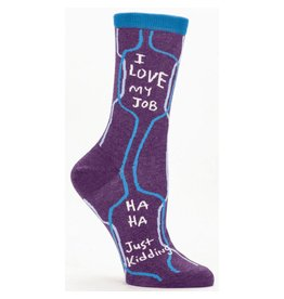 Blue Q Womens Crew Socks I Love My Job