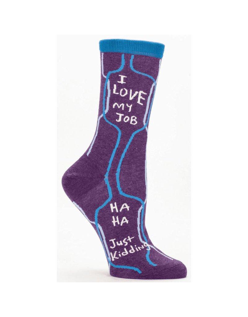 Blue Q Womens Crew Socks I Love My Job