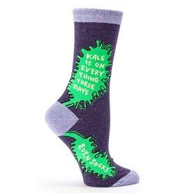Womens Crew Socks Kale