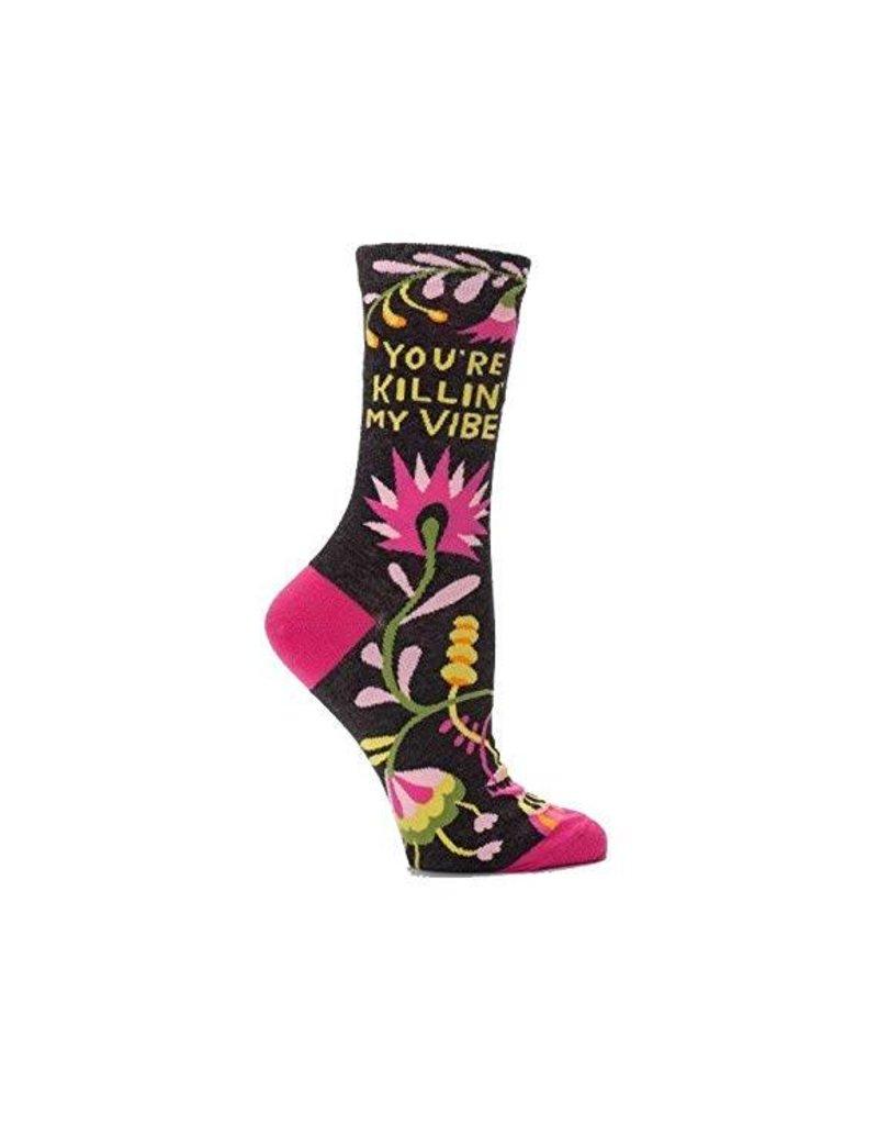 Womens Crew Socks Killin My Vibe