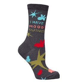 Blue Q Womens Crew Socks Mood Swings