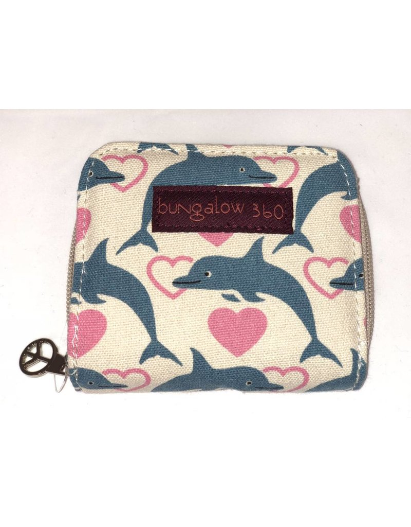 Bungalow 360 Inc Billfold Wallet Dolphin