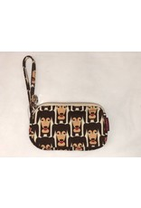 Bungalow 360 Clutch Coin Purse Happy Dog